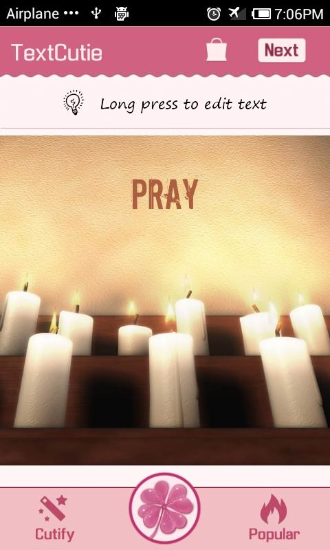Prayer Theme TextCutie - screenshot