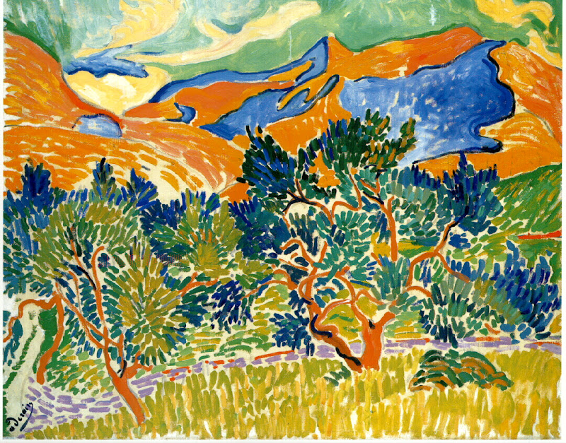 andré derain, mountains at collioure