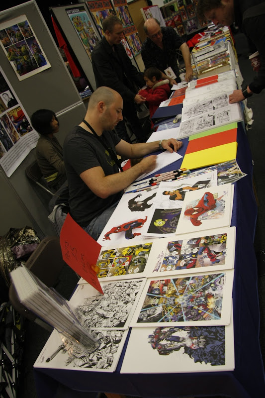 Comic Creators in action at the British International Comic Show. Photo by Dan Berry