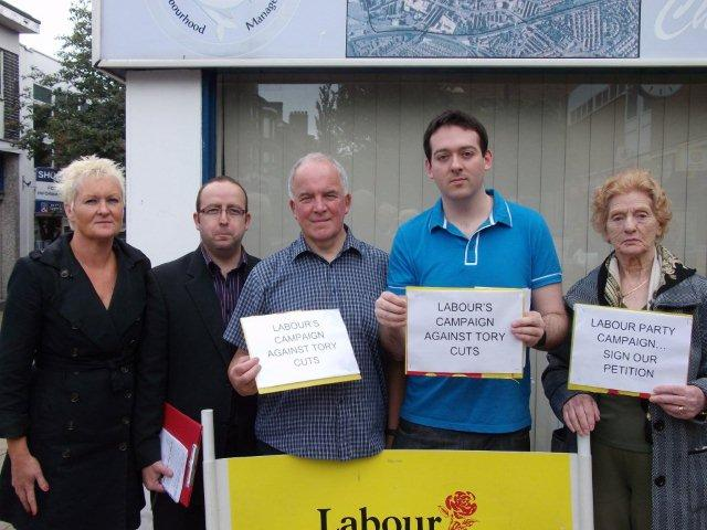 Morecambe and Lunesdale Labour Party protest against VAT in Morecambe