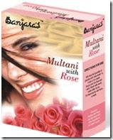 multani with rose face pack from Banjara