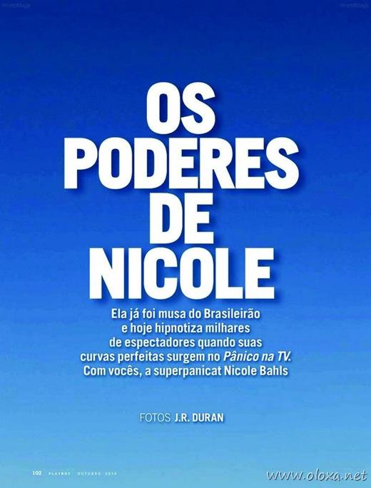 Playboy Nicole Bahls do Pânico na TV