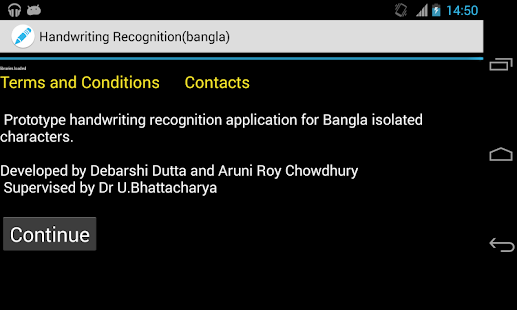 HandWritingRecognizerBangla- screenshot thumbnail