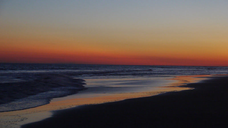 Emerald Isle NC - sunset over the ocean