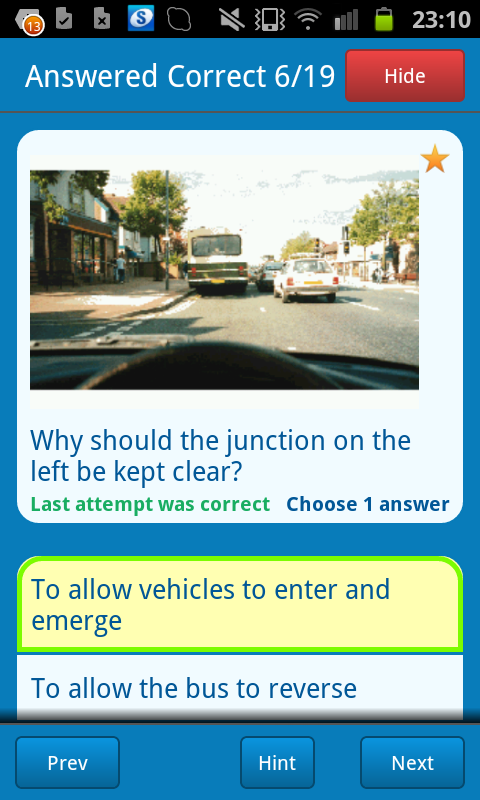 Theory Test +Hazard Perception - screenshot