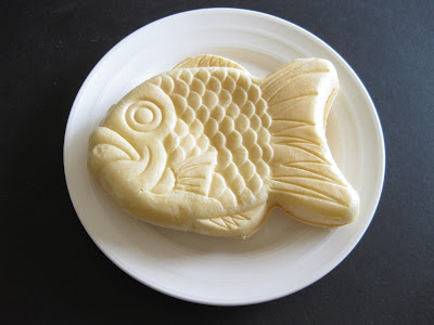 Fish shaped ice cream sandwich