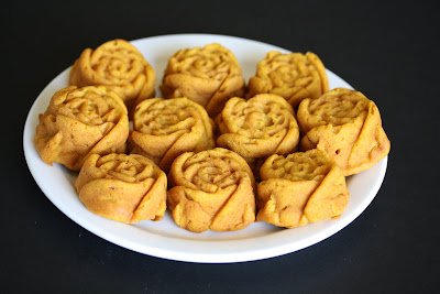 Sweet Potato cupcakes on a white plate