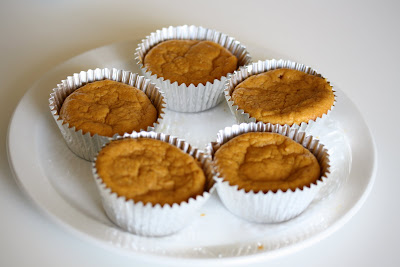photo of sweet potato cupcakes on a plate