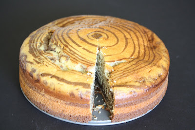 photo of zebra cake