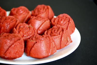 close-up photo of a plate of Red Velvet Roses