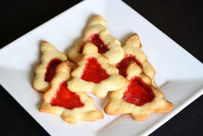 overhead photo of Stained Glass Christmas Tree Cookies