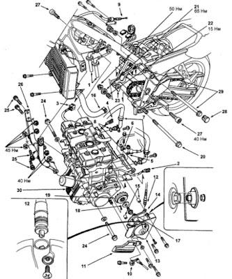 Honda Motorcycle Engine Diagram