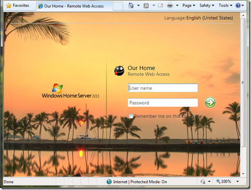 Customized Logon Page