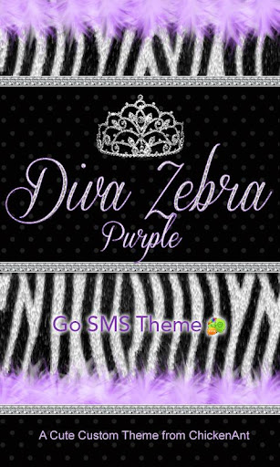 Diva Purple Zebra Theme Go SMS