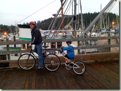 dad and lb 2 on bike