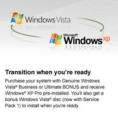 Vista downgrade