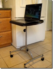 laptop on stand
