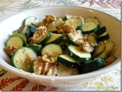 zucchini with walnuts