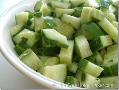 cucumbers & mint