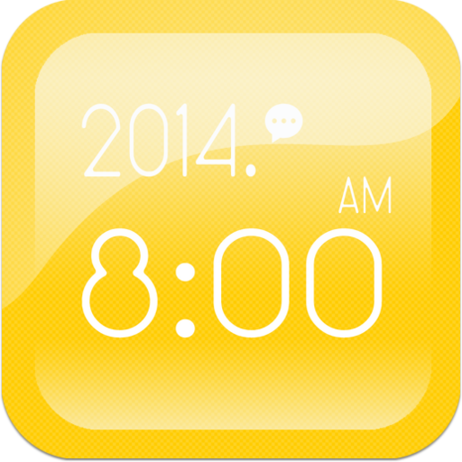 시계 위젯 - 심플한 시계/노란색 시계/예쁜 시계 LOGO-APP點子