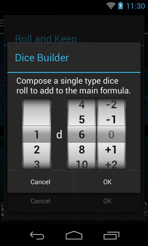 Quick Dice Roller- screenshot