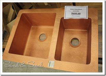 double copper sink