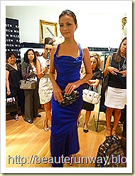 karen millen blue dress