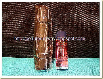 Cle de Peau Beaute brush case and nail polish remover