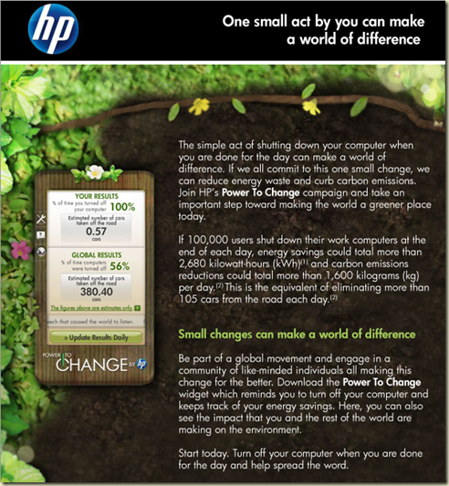 HP power to change
