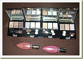 Beaute De Kose Eye Colour Classure Eyeshadows  and Rouge Fantasist Aqua Vinyl Lip color