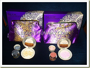 Paul & Joe highlighting Powder and Pearl set 001 Smoke & Mirrors and 002 Glow Magic
