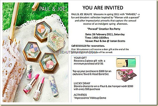 Paul & Joe Spring 2011 Parasol Collection Launch Party