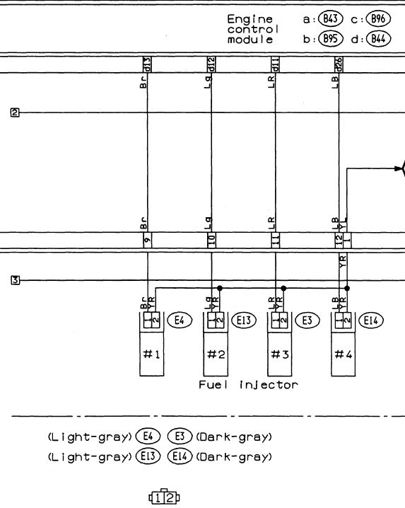 ej20g injector wiring nasioc Headlamp Switch Wiring Diagram