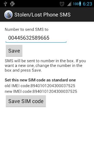 Stolen Lost Phone SMS