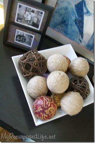 using jute balls in decor