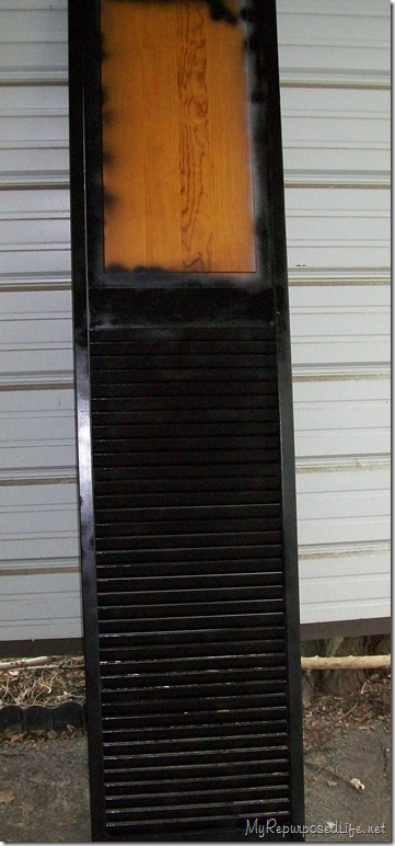 bifolding door (shutter) repurposed