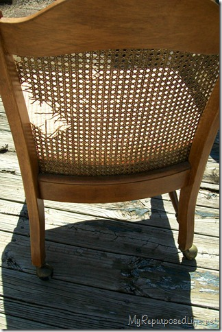 broken cane chair