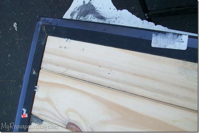using glazier points to hold bead board frame