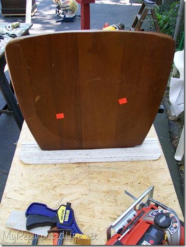 chair seat chalkboard