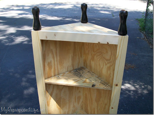 Adding Legs To A Corner Cabinet