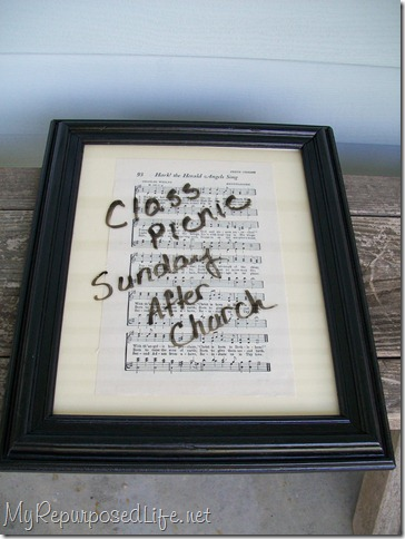 hymnal pages dry erase message board