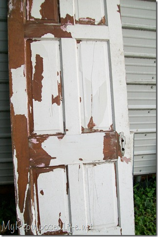 weathered chippy door