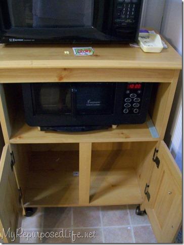 Microwave Cart Re Do My Repurposed Life