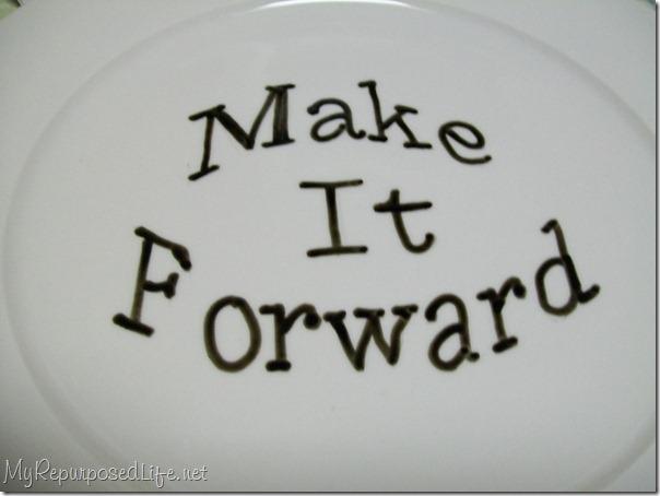 porcelain pen for make it forward plate