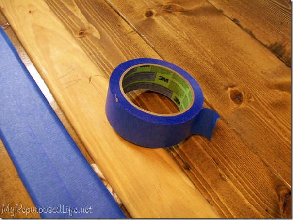 painter's tape when gluing