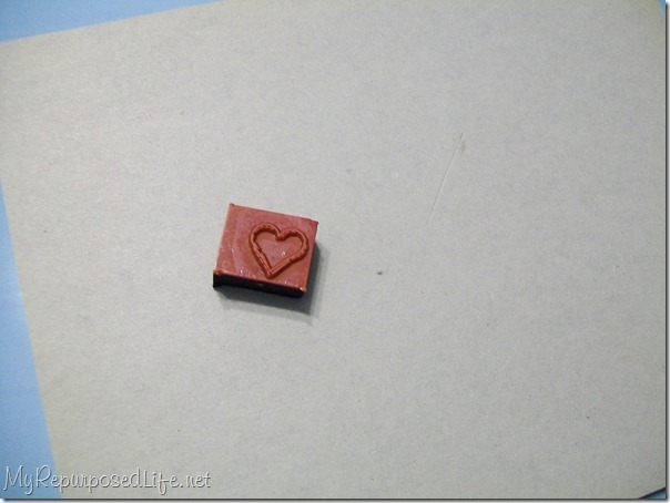 small heart stamp
