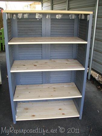shutters repurposed bookshelf (36)