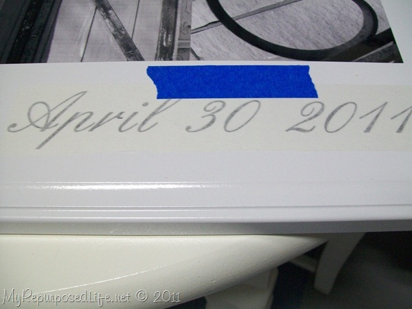 adding a date to alphabet photography sign