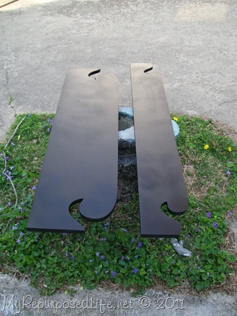 repurposed footboard into sign (4)
