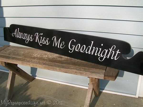 always kiss me goodnight | Easy DIY Sign